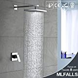 WYX@ Douche, Kit/cuivre carrée au-dessus de douche robinet de douche mitigeur caché dans le mur
