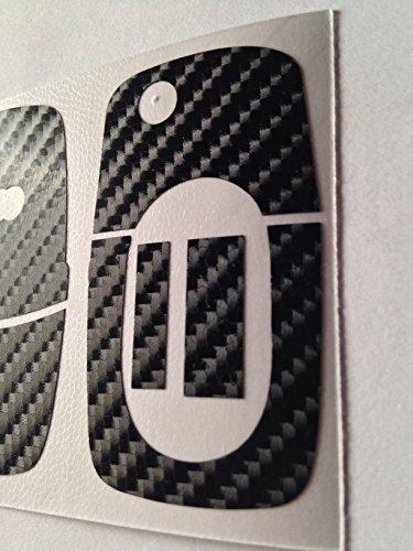 Carbon Folie / Dekor Schwarz Glanz 4D Schlüssel Key Audi RS TT 5B A4 S3 A3 A1 8e RS S4 8N 8P 8L A2 A6 6B uvm