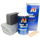 Dr.Wack A1/DFT A1 Speed Wax plus 3, 500 ml im Set mit Auftragsschwamm & DFT Microfasertuch