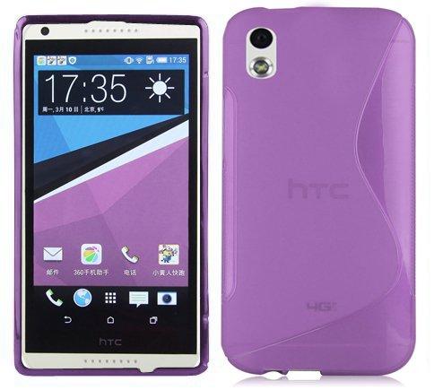 Cadorabo Hülle für HTC DESIRE 816 - Hülle in FLIEDER VIOLETT – Handyhülle aus flexiblem TPU Silikon im S-Line Design - Silikonhülle Schutzhülle Soft Back Cover Case Bumper