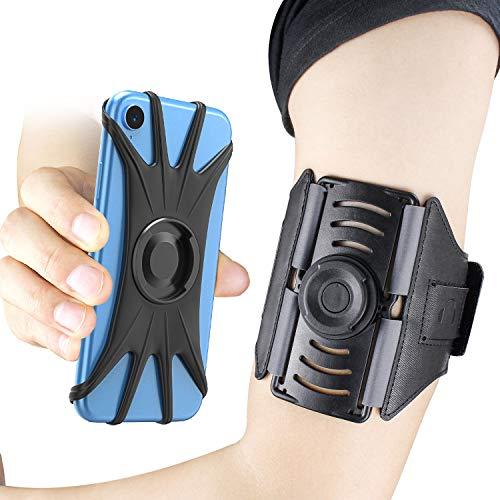 Cocoda Fascia Braccio Sportiva, [Staccabile Magnetico] 360° Rotazione Porta Cellulare Armband per Tutti Gli Smartphone 4-6.5 Pollici, Fascia Running Regolabile con Slot per Chiavi e Cuffie