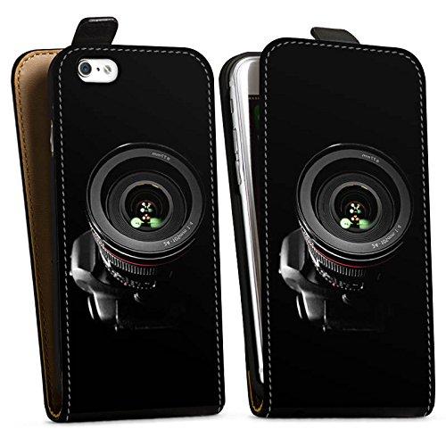 Apple iPhone X Silikon Hülle Case Schutzhülle Spiegelreflex Objektiv Fotografie Downflip Tasche schwarz
