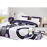 220x240 violett Tagesdecke Bettüberwurf zweiseitig geometrisches Muster violet modern Mari