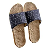 EnergyMen Shoes Summer House Cotton Flax Slippers Anti-Slip Indoor Sandals 11 43