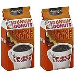 Dunkin' Donuts Kürbis-Gewürz gemahlener Kaffee - (Pro Beutel 2 Packung) - Amerikanischer Importierte Geröstete Kaffee, 311 g (11 oz. Pumpkin Spice Ground Coffee)