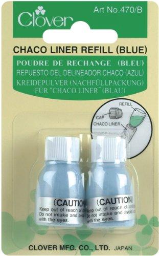 Clover 470/B Kreidepulver für Chaco-Liner 2 x 2,8 g, blau (Liner Clover Chaco Refill)
