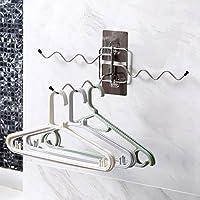 Abcidubxc - Toallero de pared de 3 capas, material de acero inoxidable, gancho giratorio de 180 grados