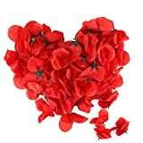 Ailiebhaus 50 Stück Rosenblüten Rosenblätter Blütenblätter für Hochzeit Party Dekoration