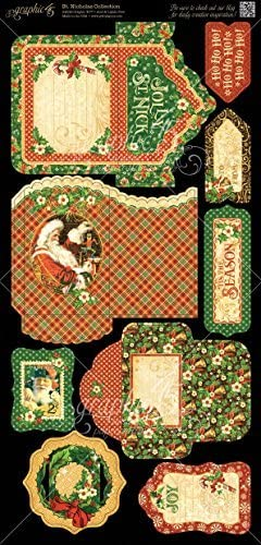Graphic 45 ST Nicholas Double Double Double Sided in Stock Christmas Tags and Pockets 4501413 by immagini 45 | Rifornimento Sufficiente