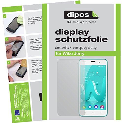 dipos I 2X Schutzfolie matt passend für Wiko Jerry Folie Bildschirmschutzfolie
