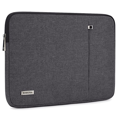 "KIZUNA Laptop Hülle Tasche 15.6 Zoll Sleeve Case Schutzhülle Wasserfest Laptophülle Notebooktasche für 15,6"" Notebook/15.6"" Lenovo Yoga 720/HP Envy x360/Dell Inspiron 15, Dunkelgrau"