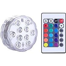LED sommergibili con telecomando, Alilimall impermeabile lampada multi colori per piscine, vasche idromassaggio, Vaso Base, floreale, Acquario, Stagno, Matrimonio, Party, illuminazione a LED decorazione