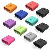 [9-Stück] TUSITA Silikonringe für Samsung Gear Fit , Gear Fit 2 / Garmin Vivofit , Vivofit 2 Armband Verschlusshilfe