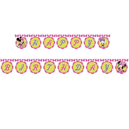 pelstift Disney Minnie Maus Happy Birthday Banner (Banner Minnie Mouse)