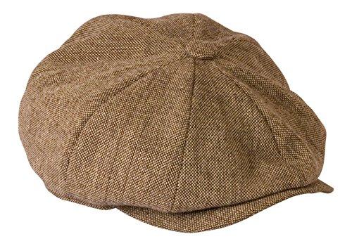 shelby-gt500-color-beige-marron-gamuza-de-tweed-ligero-verano-cap-por-gamble-y-gunn-marron-oatmeal-t