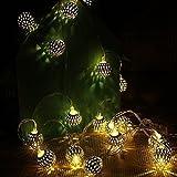 CORST® 16.4FT/5M 40 LED Globus Lichterkette Kugel Batterie Licht marokkanische Ball Laterne für Weihnachten, Garten, Home (Warm Weiss)
