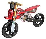 Dunjo® Holz Motorrad Laufrad Cross Pro Rot | Ab 2 Jahren | Für Jungen Und...