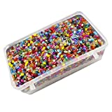 #3: eshoppee glass seed cut beads 100 gm (approx 10000 beads) for jewellery, art and craft making diy kit