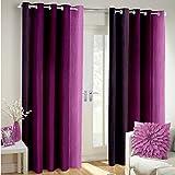 Weavers Villa Set Of 2 Window / Door Faux Silk Polyester Blend Designer Curtains [ 7 Ft - Window/Door ]