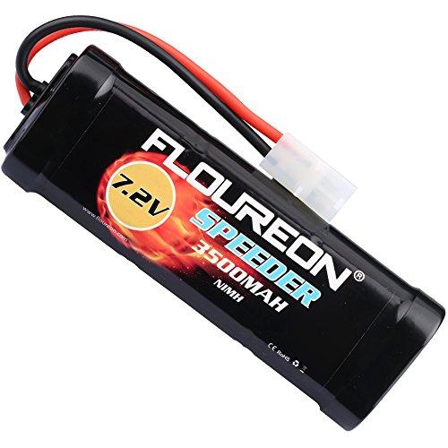 floureon 7.2V 3500mAh NiMH RC Batterie Haute Performance Prise Tamiya Femelle pour Voiture RC, Avion, Robots, Haute Sécurité +...