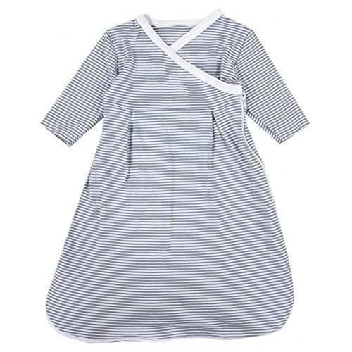 TupTam Baby Unisex Langarm Innenschlafsack, Farbe: Streifenmuster Grau, Größe: 62/68