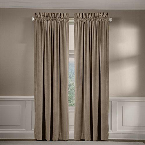 veratex Made in die USA 100% Baumwolle Velourssamt Wohnzimmer Rod Pocket Fenster Schiebevorhang, Pebble, 304,8cm Made In Usa-pocket
