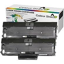 2 X Colour Direct Reemplazo de cartucho de tóner compatible para Samsung MLT-D111S - Xpress SL-M2020, SL-M2020W, SL-M2022, SL-M2022W, SL-M2026, SL-M2026W, SL-M2070, SL-M2070FW, SL-M2070W Impresoras. Aprrox 1.000 páginas