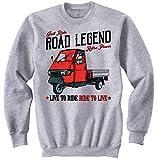 Teesandengines Men's Ape Piaggio 50 Grey Sweatshirt Size XLarge