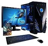 VIBOX Vision Gaming PC Computer Paket 2 - mit WarThunder Spiel Bundle, 22' Monitor, Lautsprecher, Tastatur und Maus (3.9GHz AMD A4 Dual Core CPU, Radeon Grafik-Chip, 1TB Festplatte, 8 GB RAM, Kein Betriebssystem)