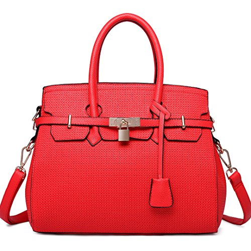 Miss Lulu, Borsa a mano donna Plain Red