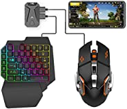 Kaigital MIX lite PUBG Controller Gaming Keyboard Mouse Converter, Android system dedicated, Mouse & Keybo