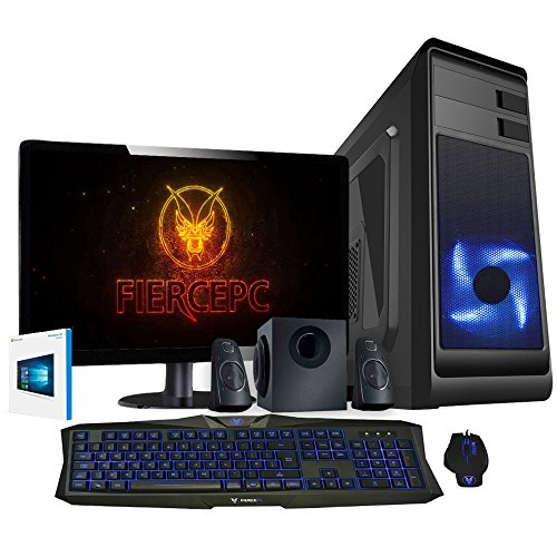 Fierce Ripper Hero Gaming PC Bundeln - Schnell 4.2GHz Octa-Core AMD FX-8300, 1TB HDD, 16GB, NVIDIA GeForce GTX 1060 6GB, Windows 10, Tastatur (VK/QWERTY), Maus, 24-Zoll-Monitor, Lautsprecher 346127