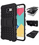 Rugged Dual Armour Kickstand back cover for Samsung Galaxy J7 Prime color Black