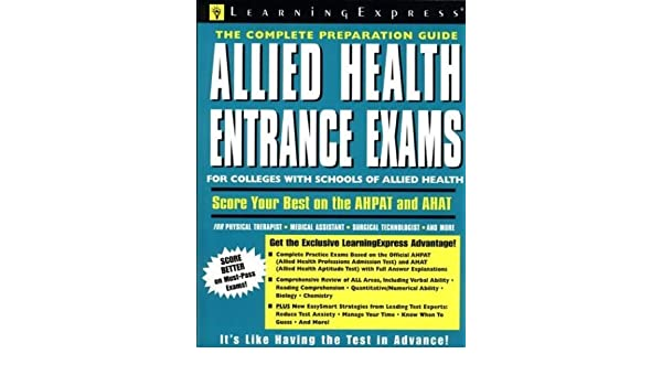 Buy Allied Health Entrance Exams: Test Preparation for the