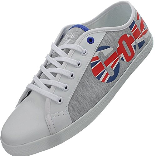 Gola Varsity Low, Sneaker uomo Bianco-Rosso-Grigio-Azzuro