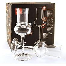 SET 6 bicchierini calici riserva grappa trasparenti 8 cl Bormioli Grappa