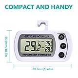 NexGadget Thermometer,Thermometer für Kühlschrank Freezers, Digital-LCD Temperaturmonitor, Messe Ranking von -20 bis50 C(-4 to 122 F)mit hocher Genauigkei, Perfekt für Haushalt&Restaurants& Bars&Cafes -