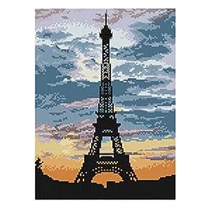 [Tour Eiffel] DIY Cross-Stitch 11 CT broderie Kits Chambre Décorations (9 * 13.1 '')