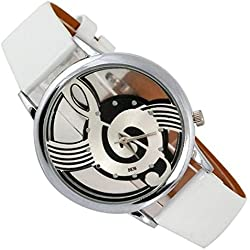 SSITG Women 'Watch Music Notes Treble Clef Leather Watch Bracelet Gift