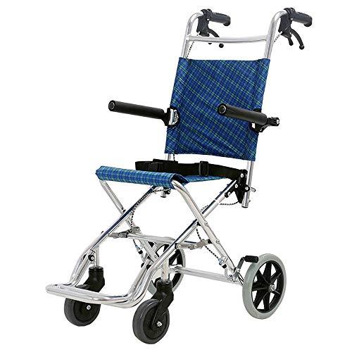 DWhui Sedia a rotelle Portatile Vecchio Uomo Scooter Pieghevole Sedia a rotelle del Carrello della Spesa può sopportare 100 kg Adatto a Persone con Mobilità ridotta