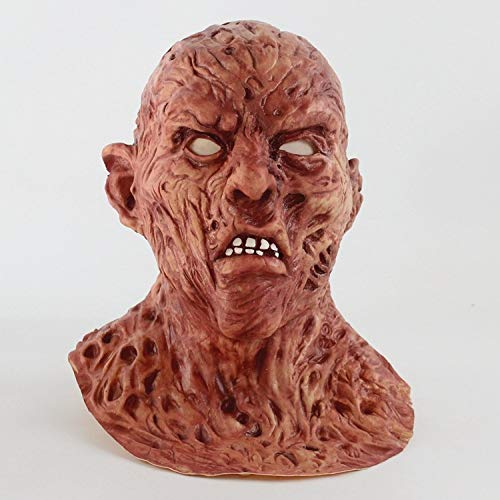 Street Kostüm Zombie - POIUYT Kostüm A Nightmare On Elm Street Deluxe Overhead Latex Maske , Dekoration Präsentiert Perücke Halloween Horror Karneval Cosplay Zombie Maske