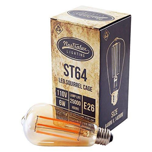 Nostralux® hochwertige, klassische, dimmbare, LED Glühbirne im birnenförmigen Stil E27 Edison Retro-Stil – energiesparend