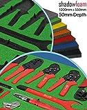 Grüner Shadow-Foam-Schaumstoff, zum Organisieren von Werkzeug, kräftige Farbe, grün