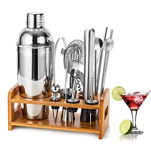 HB life Cocktail Set Cocktailhaker Gift Set de 15 Pièces de...