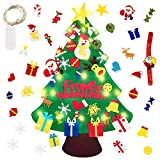 Reccisokz Fieltro Árbol de Navidad DE Justdolife Árbol de Navidad DIY con 50 Luces LED 30 Unids Adornos Navidad Decoración Colgante para Niños Niños arbol de Navidad Cafe Hotel casa decoración