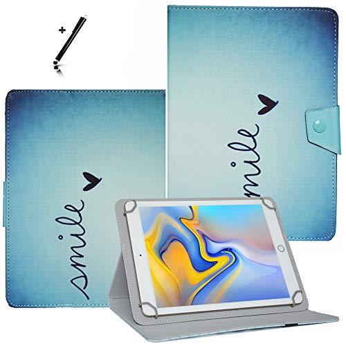 Tablet Hülle 10.1 Zoll für Archos Diamond Tab (2017) Schutzhülle Etui Case mit Touch Pen und Standfunktion - Liebesherz 1