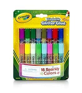Crayola - 69-4200-E-000 - Loisir Créatif - 16 Mini Colles Pailletées Lavables
