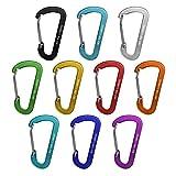 BB Sport 10er Set Materialkarabiner Karabiner CLOSURE MIX in verschiedenen Farben Schlüsselanhänger Karabinerhaken Zubehörkarabiner, Farbe:CLIP