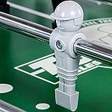 TUNIRO® Tischfussball PLATINUM V, 115 kg, LEONHART POWER FORCE HOHLSTANGEN, BTFV zertifiziert, LEO Figuren, verstärktes Spielfeld, ergonomische Griffe, Kicker Tischkicker - 9