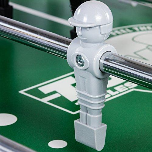 TUNIRO® Tischfussball PLATINUM V, 115 kg, LEONHART POWER FORCE HOHLSTANGEN, BTFV zertifiziert, LEO Figuren, verstärktes Spielfeld, ergonomische Griffe, Kicker Tischkicker -